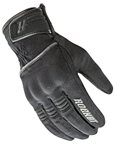 Joe Rocket Resistor Mens Black Textile Motorcycle Gloves