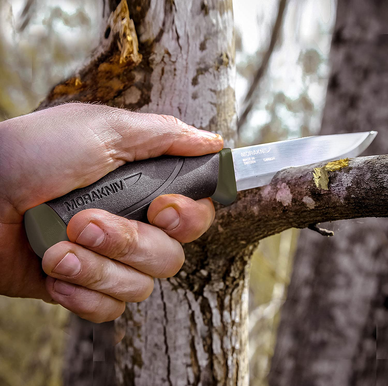 Morakniv Companion Fixed Blade Outdoor Knife with Carbon Steel Blade