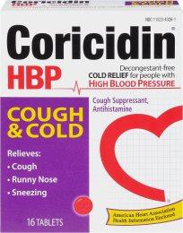 Coricidin HBP Antihistamine Cough & Cold Suppressant Tablets