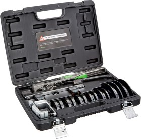Hilmor 1926598 Compact Bender Kit with Reverse Bending Attachment - HVAC Tools for Tube and Pipe Bending, Black