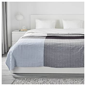 Zigzag Trading Ltd Ikea Angstorel Couvre Lit Bleucarreaux