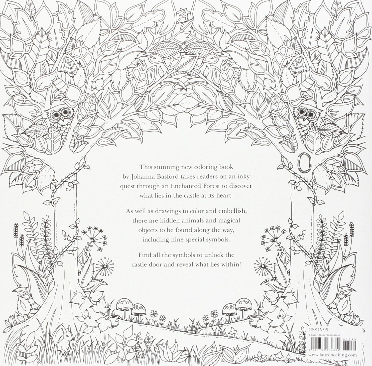 Enchanted Forest An Inky Quest And Coloring Book Activity Books Mindfulness And Meditation Illustrated Floral Prints Amazon Ca Basford Johanna Books