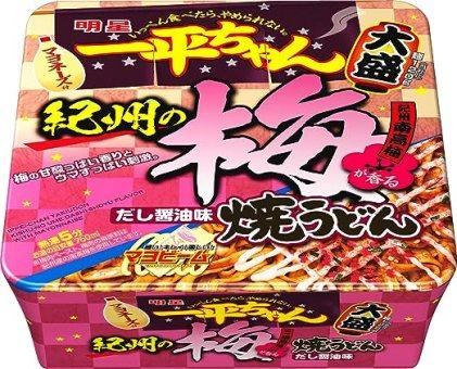 明星 一平ちゃん焼うどん 大盛 紀州の梅 だし醤油味 153g×12個