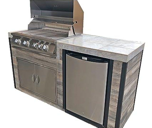 Amazon Com Kokomo Grills Elite Bbq Island Outdoor Kitchen Garden Outdoor