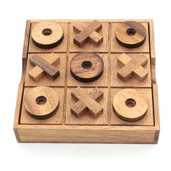 BSIRI TicTacToe Classic Board Games Noughts and Crosses Family Brain Teaser Puzzle Coffee Table For Adults And Children All Ages