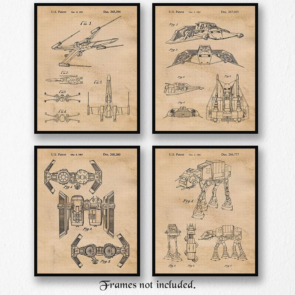 Star Wars patent posters for gifts