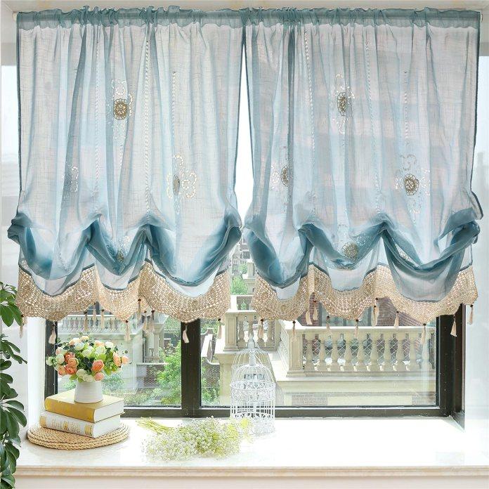 Balloon kitchen curtain