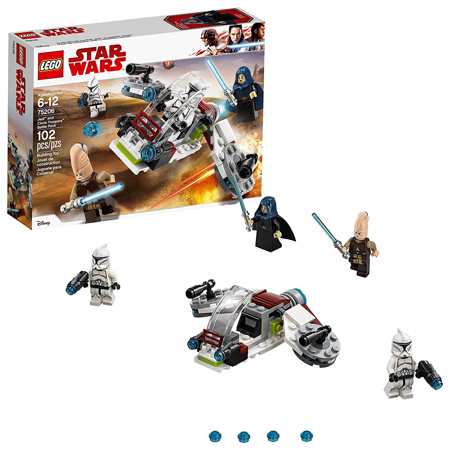 Lego Star Wars Jedi Clone Troopers Battle Pack 75206 Building Kit 102 Piece