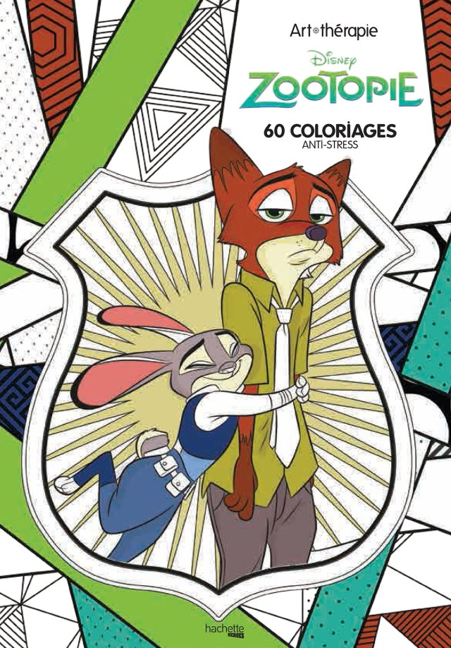 Art-thérapie Zootopie: 30 coloriages anti-stress (Heroes) (French