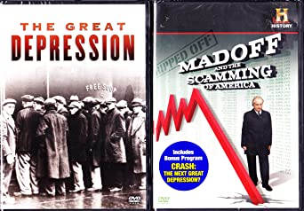 Amazon.com: The History Channel the Great Depression , Crash the Next Great  Depression , Madoff and the Scamming of America : 2 Dvd Set : Approx 5  Hours: Movies & TV