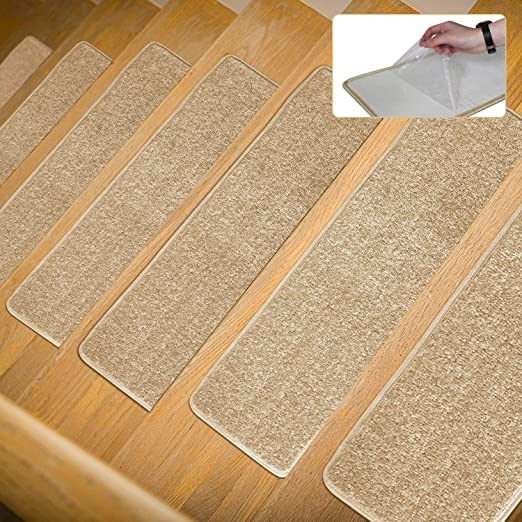 Amazon Com Carpet Stair Treads Non Slip 8 X 30 Set Of 13 Rug | Rug Stair Treads Non Slip | Bullnose Carpet | Gloria Rug | Slip Resistant | Tread Covers | Flooring