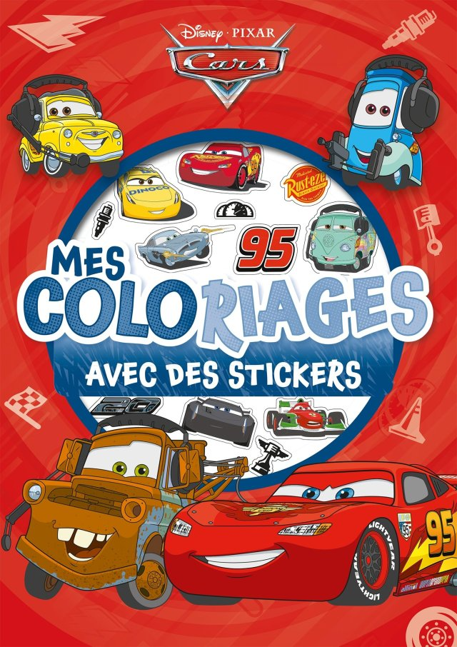 CARS - Mes Coloriages avec Stickers - Disney Pixar (French Edition