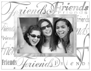Malden International Designs Mirrored Glass Friends Picture Frame