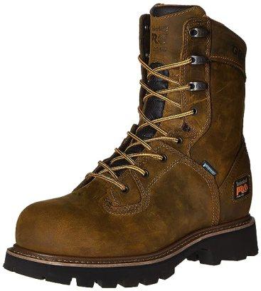 Timberland PRO Men's 8 Inch Crosscut Waterproof Steel Toe Work Boot, Brown Distressed Leather, 13 M US