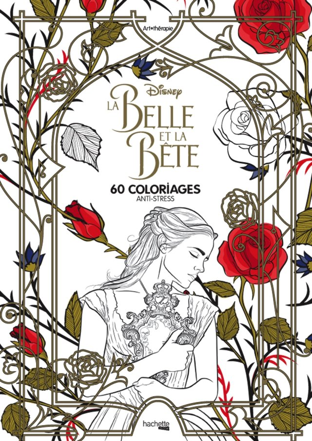 Bloc Art-thérapie La Belle et la Bête: 27 coloriages anti-stress