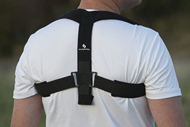 StrictlyStability Upper Back Posture Corrector Brace and Clavicle Support for Fractures, Sprains, and Shoulders