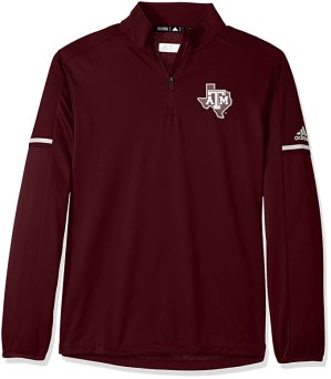 Outerstuff NCAA Texas A&M Aggies Men's Sideline L/S 1/4 Zip Pullover Jacket, Small, Maroon