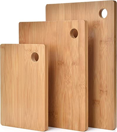 3 Piece Organic Bamboo Chopping Board Set By Harcas 3 Sizes Best For Cutting Meat Vegetables And Cheese Beautifully Crafted Professional Grade For Strength And Durability Amazon Co Uk Kitchen Home
