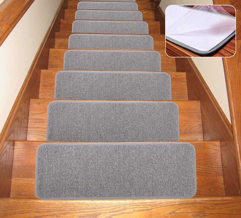Amazon Com Seloom Carpet Stair Treads Non Slip Indoor Set Of 13   Cheap Carpet Stair Treads   True Bullnose   Hallway Carpet   Carpet Runners   Slip Resistant   Bullnose Carpet