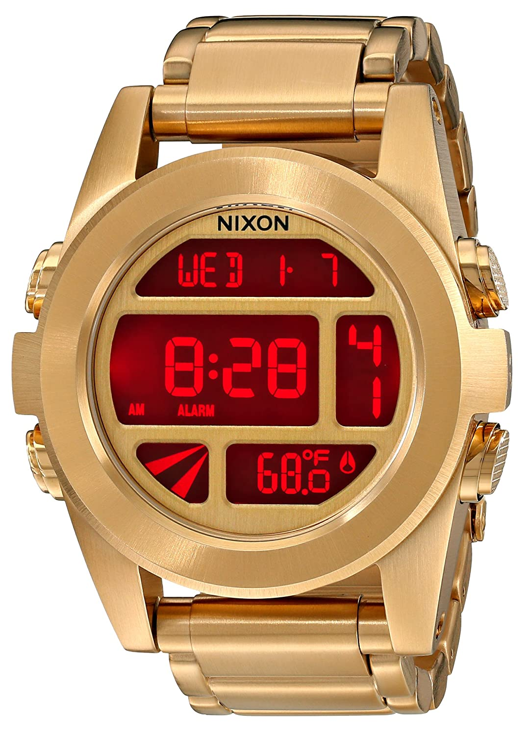 Nixon The Unit SS Gold Watch