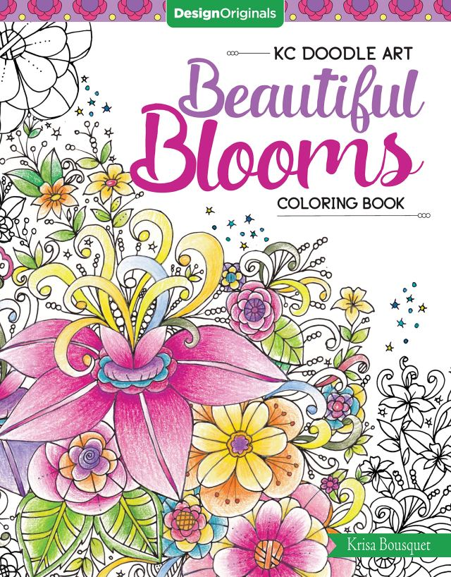 Amazon.com: KC Doodle Art Beautiful Blooms Coloring Book (Design