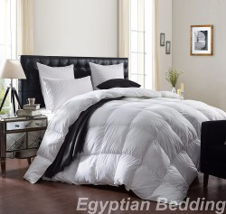 LUXURIOUS 1200 THREAD COUNT GOOSE DOWN COMFORTER, KING SIZE, 1200TC – 100% EGYPTIAN COTTON COVER, 750 FILL POWER, 50 OZ FILL WEIGHT, WHITE COLOR