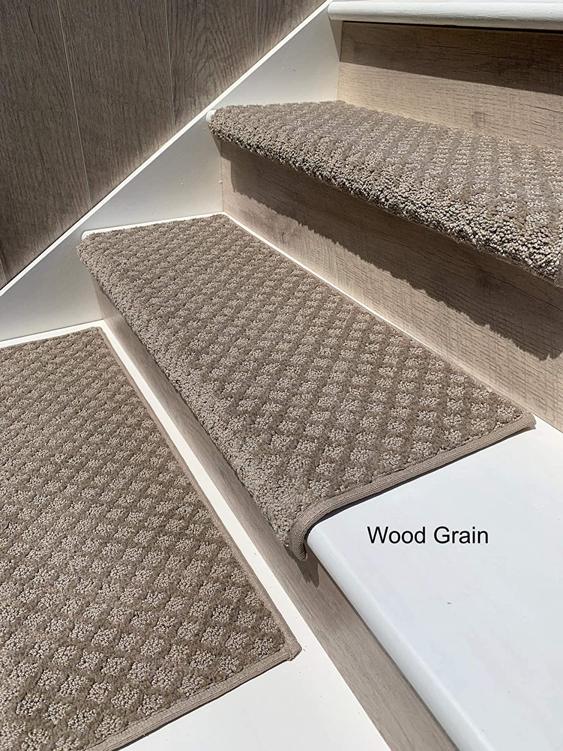 Oak Valley Designs Carpet Stair Treads Style Bayside Charm 27 | Fitting Carpet To Open Tread Stairs | Landing | Floating Staircase | Stairway | Hardwood | Prefinished Stair