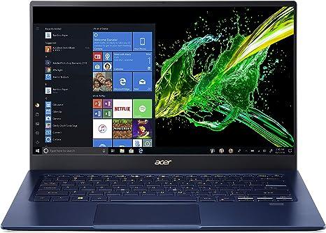 "Amazon.com: Acer Swift 5 Ultra-Thin & Lightweight Laptop, 14"" Full HD IPS  Touch, 10th Gen Intel Core i5-1035G1, 8GB LPDDR4, 512GB PCIe NVMe SSD, FP  Reader, Wi-Fi 6, Back-lit Keyboard, Windows 10,"