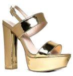 Platform Ankle Strap High Heel - Peep Toe Sandal Pump - Formal Chunky Dress Heel - Tutu by J. Adams