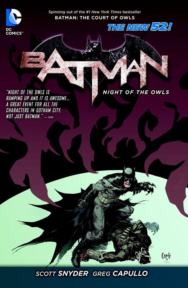 Capa importada de Batman: Noite das Corujas por Greg Capullo.