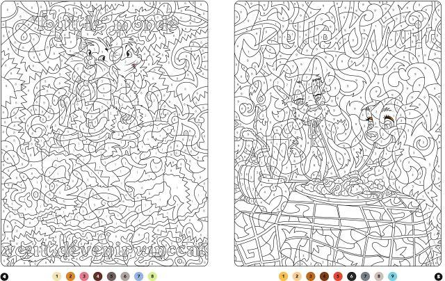 DISNEY - Coloriages Magiques - Messages mystères : Disney, Marie