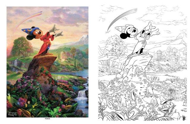 Disney dreams coll coloring book sc : Thomas, Kinkade: Amazon.de