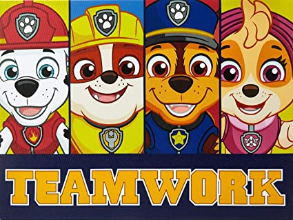 Amazon Com Paw Patrol Led Canvas Wall Art Toys Games