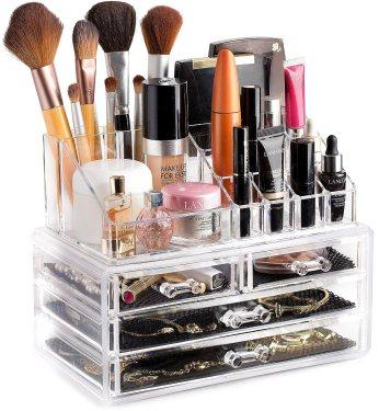 Clear Cosmetic Storage Organizer, of of my favourite small bathroom storage ideas