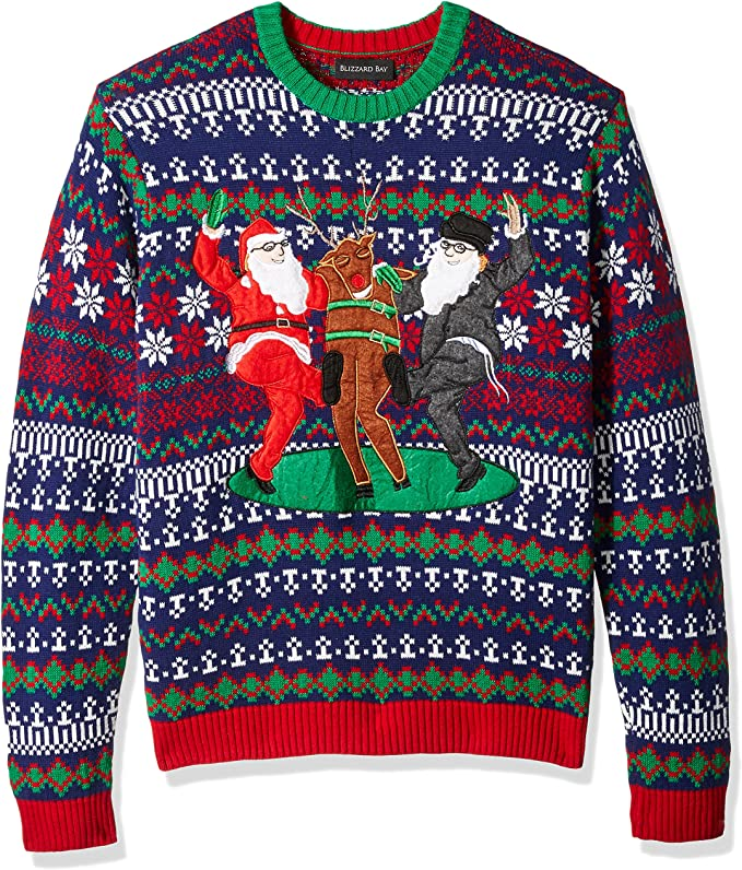 Blizzard Bay Men's Ugly Christmas Sweater Santa