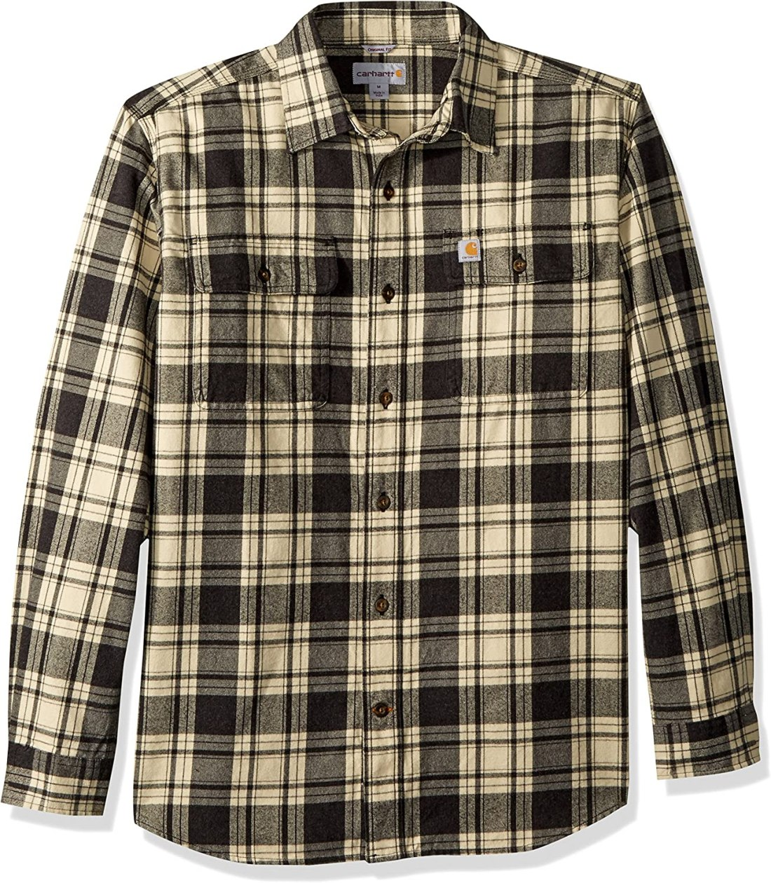 Carhartt Men's Hubbard Plaid Flannel Shirt at Amazon Men's Clothing store