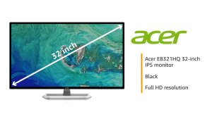 Acer 32-inch (81.28 cm) Full HD IPS Monitor – EB321HQ (Black)