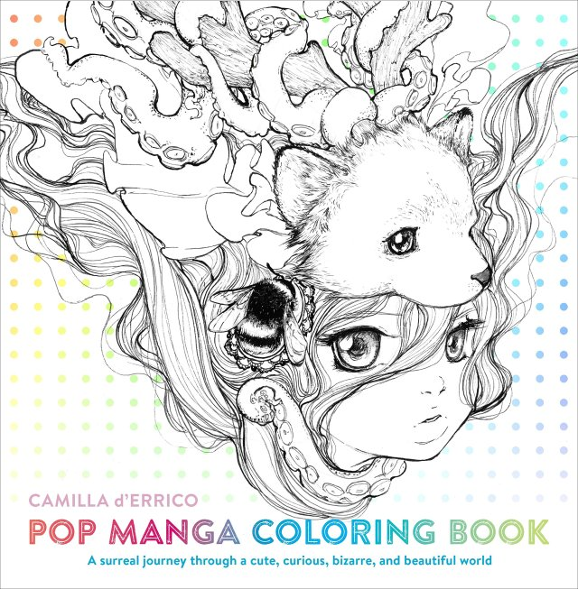 Pop Manga Coloring Book: A Surreal Journey Through a Cute, Curious