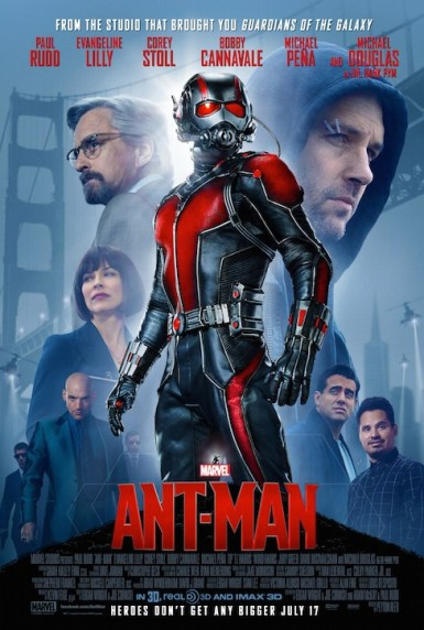 Michael Douglas, Bobby Cannavale, Michael Peña, Paul Rudd, Corey Stoll, and Evangeline Lilly in Ant-Man (2015)