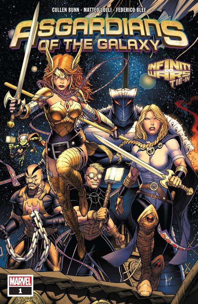Capa de Asgardians of the Galaxy #1 por Dale Kwon.