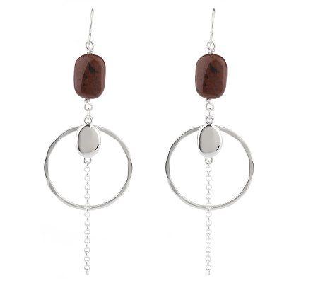 J45240 - RLM Studio Sterling Mahogany Jasper Dangle     Earrings