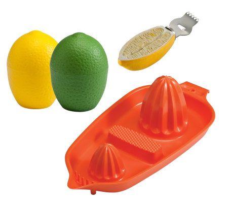 Gourmac Lemon/Lime Saver, Citrus Zester and Twin Juicer