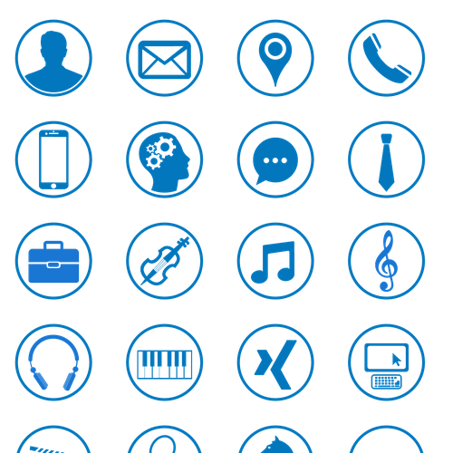 20 modern Icons for personal CV  Resume  Icon or button contest