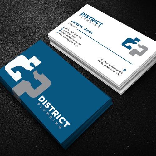 Modern Plumbing Business Card Business Card Contest 99designs