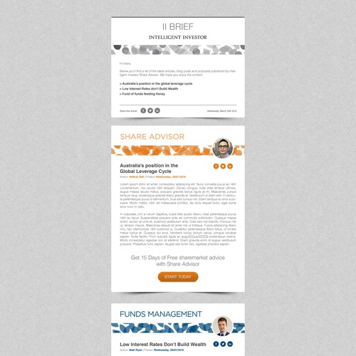 Browse over 860 html email templates and select the most suitable to your business. Create A Weekly Email Newsletter Template For Intelligent Investor Email Contest 99designs