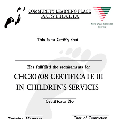 Community Learning Place Australia needs a new Certificate