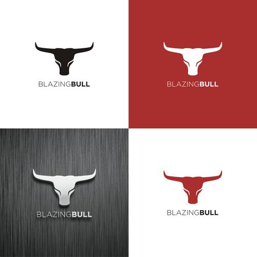 blazing bull logo innovate