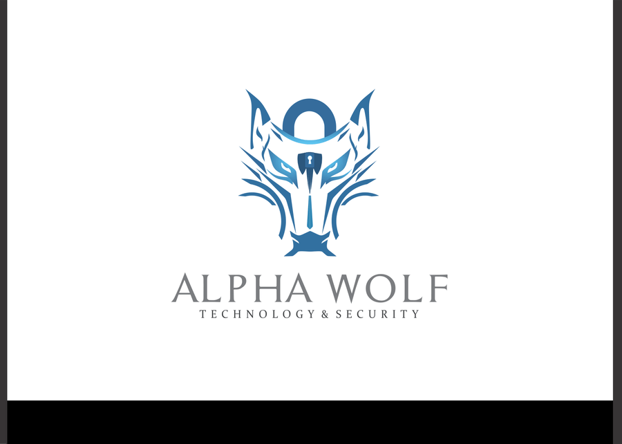 Create an eye-catching logo for Alpha Wolf Technology and