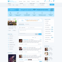 "Dating site needs a good ""my account"" page design 