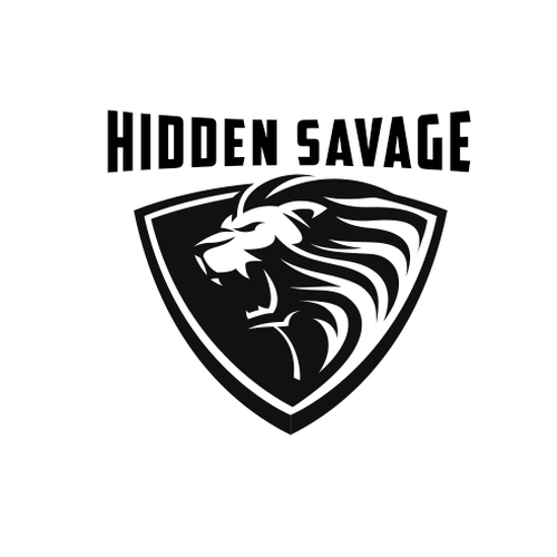 Create a fierce lion design for Hidden Savage Apparel
